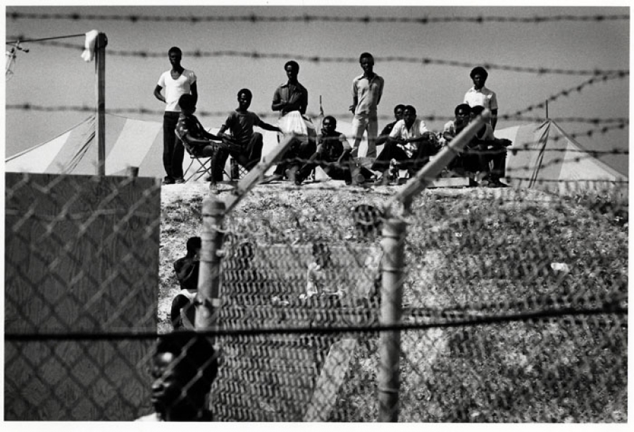 Photo is from the Krome Detention Center. It is is one of most well-known immigration detention centers in the United States with a large population of Haitians.