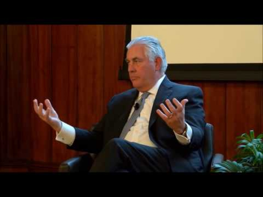 Rex Tillerson explains his position on climate change