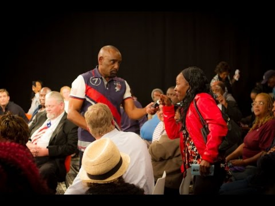 Trump & Hillary Voters CLASH at Town Hall; NAACP & SEIU Democrats Get EXPOSED