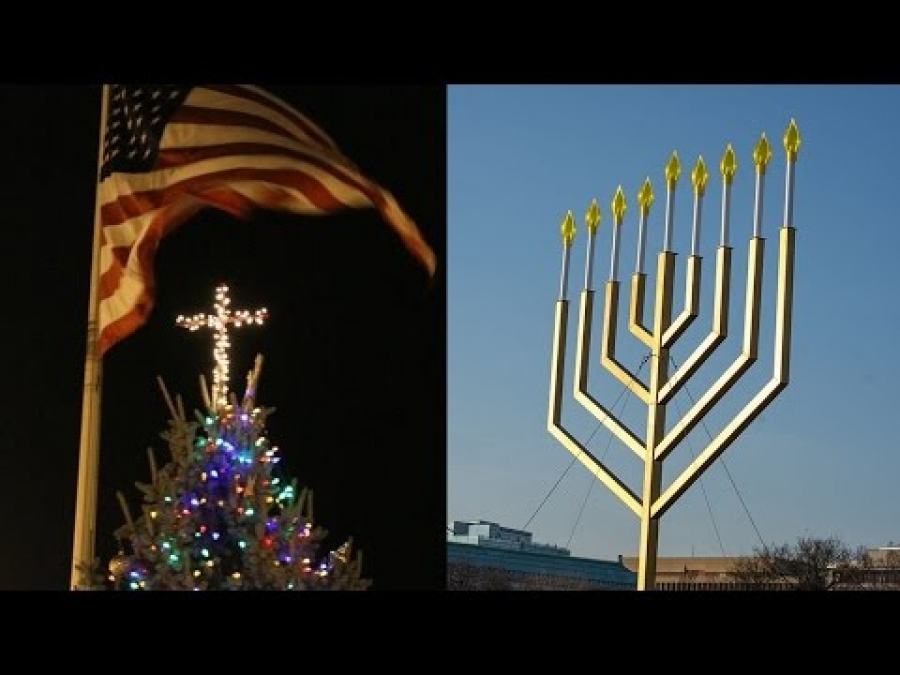 ACLU Sues Indiana Town Over Christmas Tree Cross, But Not The White House Menorah (REACTION)