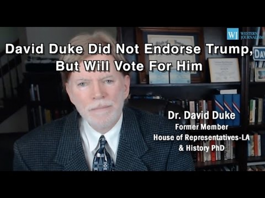 David Duke Did Not Endorse Trump, But Will Vote For Him