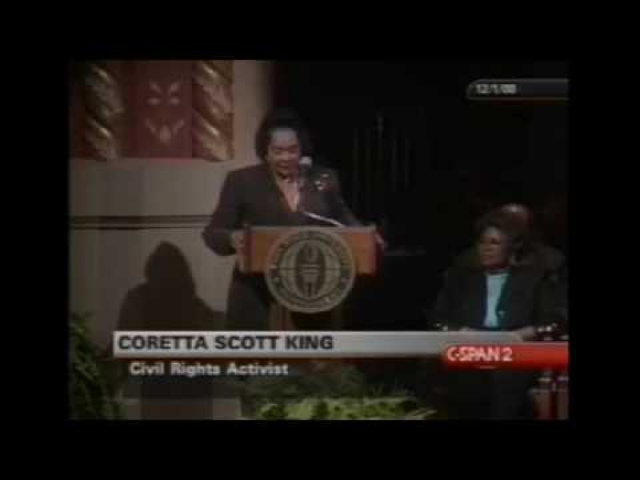 Coretta Scott King Thanking Jeff Sessions for Rosa Parks Library