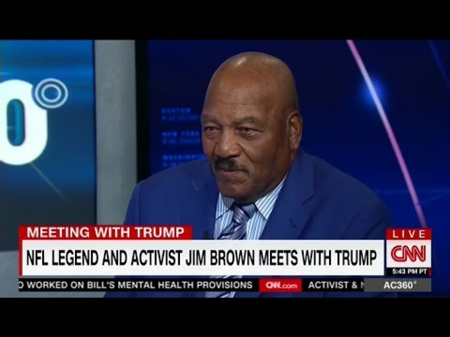 Jim Brown Talks Trump Meeting, Says People Going Against the Election 'Are Going Against America'